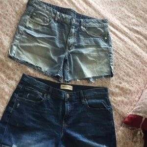 Bundle of 2 denim jeans shorts Gap American Eagle
